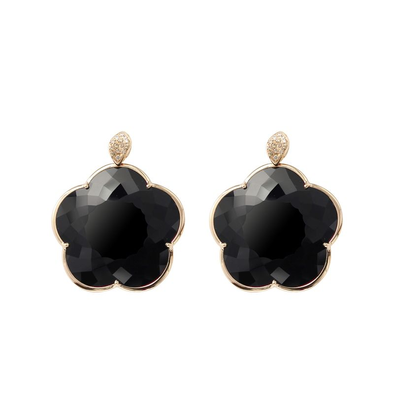 Pasquale Bruni Ton Joli earrings pink gold and onyx 40mm