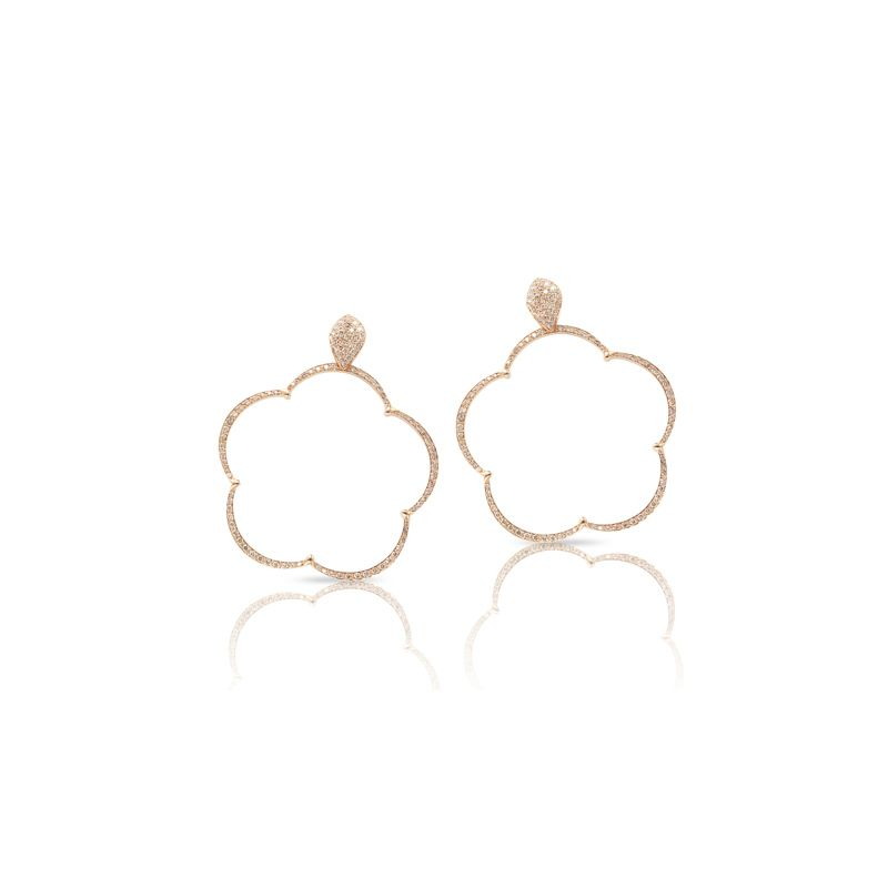15644R | Pasquale Bruni Ton Joli earrings pink gold 40mm - Webshop