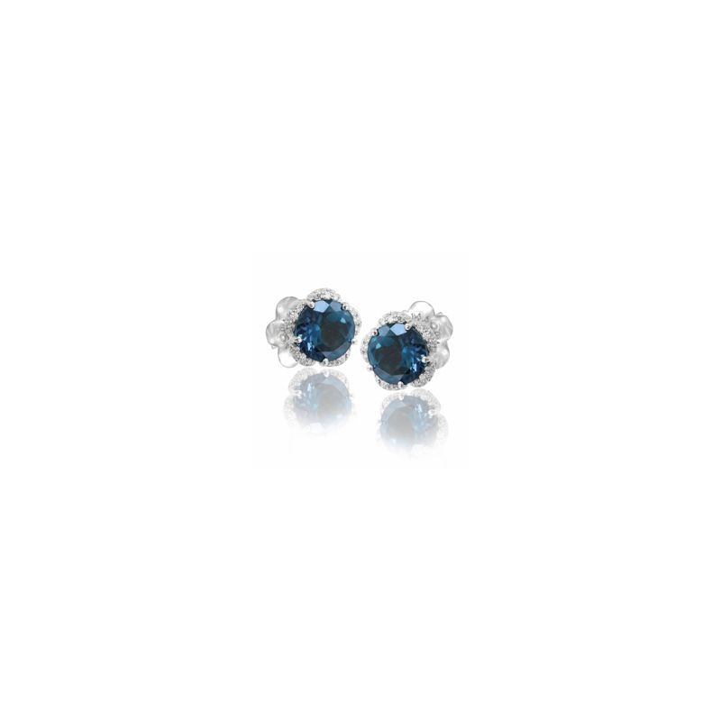 15676B | Pasquale Bruni Me & You earrings white gold with london topaz - Webshop