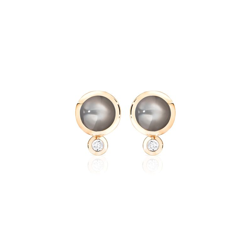 E-Bou-MoGrey-RG | Tamara Comolli Bouton earrings Moonstone Grey