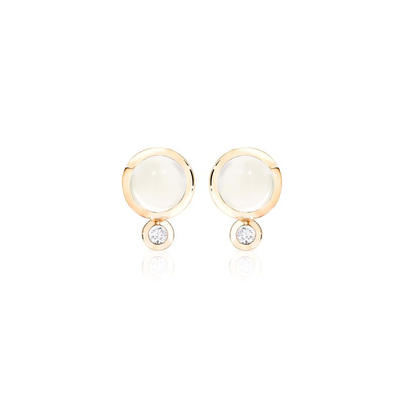 E-Bou-MoSa-RG | Tamara Comolli Bouton earrings Moonstone Sand