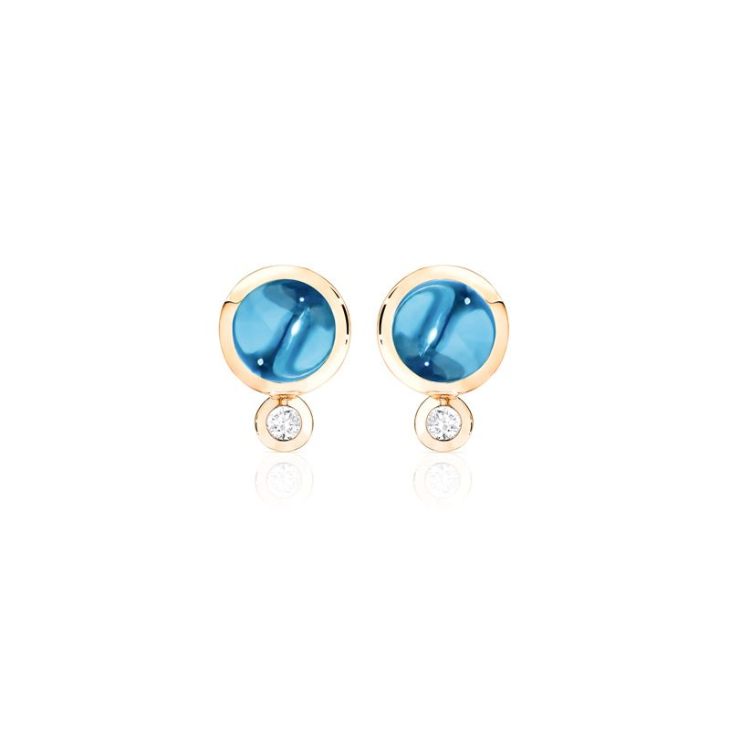 E-Bou-SwTo-RG | Tamara Comolli Bouton earrings London Topaz