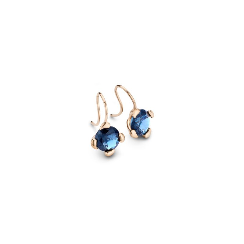 E-Dr-TCH-LoTo-RG | Tamara Comolli Drop Touch earrings London Topaz - Webshop