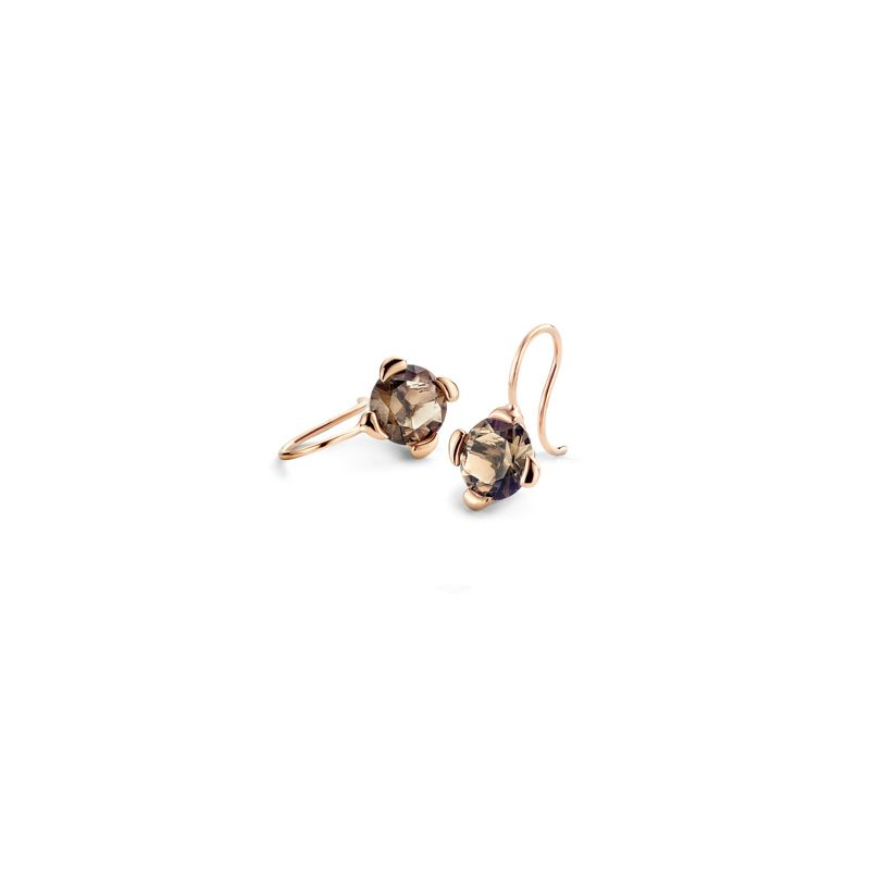E-Dr-TCH-SmQu-RG | Tamara Comolli Drop Touch earrings Smoky Quartz - Webshop