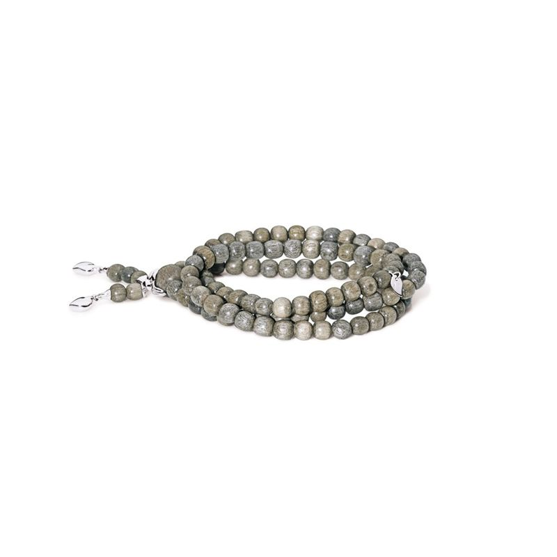 Tamara Comolli bracelet India Grey Wood Double WG