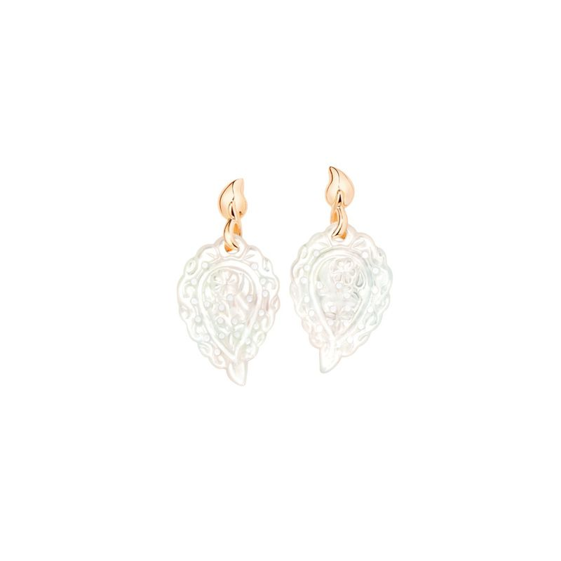 E-IND-MOP-RG | Tamara Comolli India Leaf White Mother of Pearl - Webshop