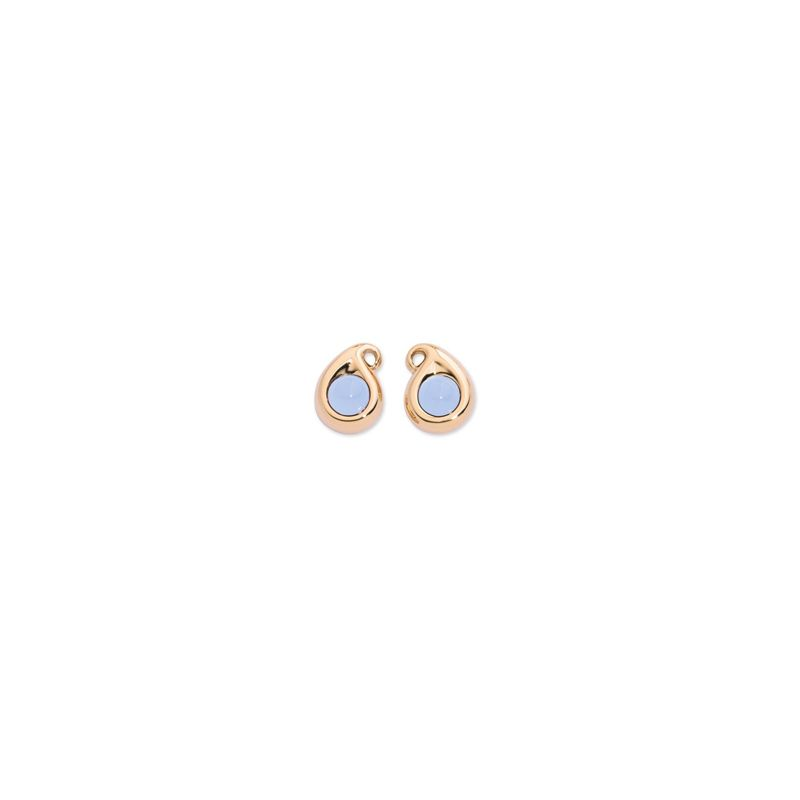 E-1-PS-BlueChal-RG | Tamara Comolli Paisley earrings Blue Chalcedony RG - Webshop