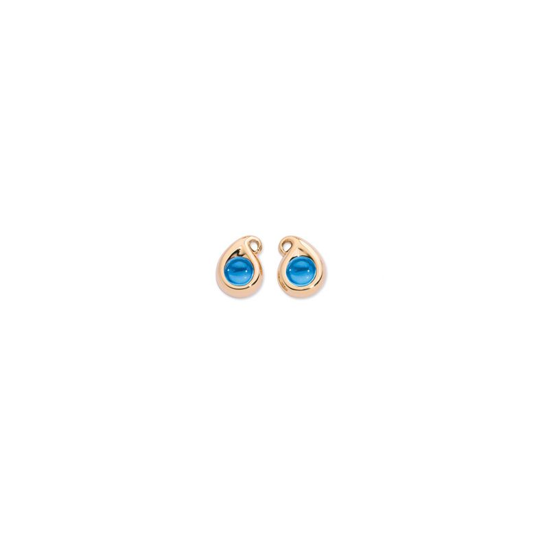 E-1-PS-SwTo-RG | Tamara Comolli Paisley earrings Swiss Topaz RG - Webshop