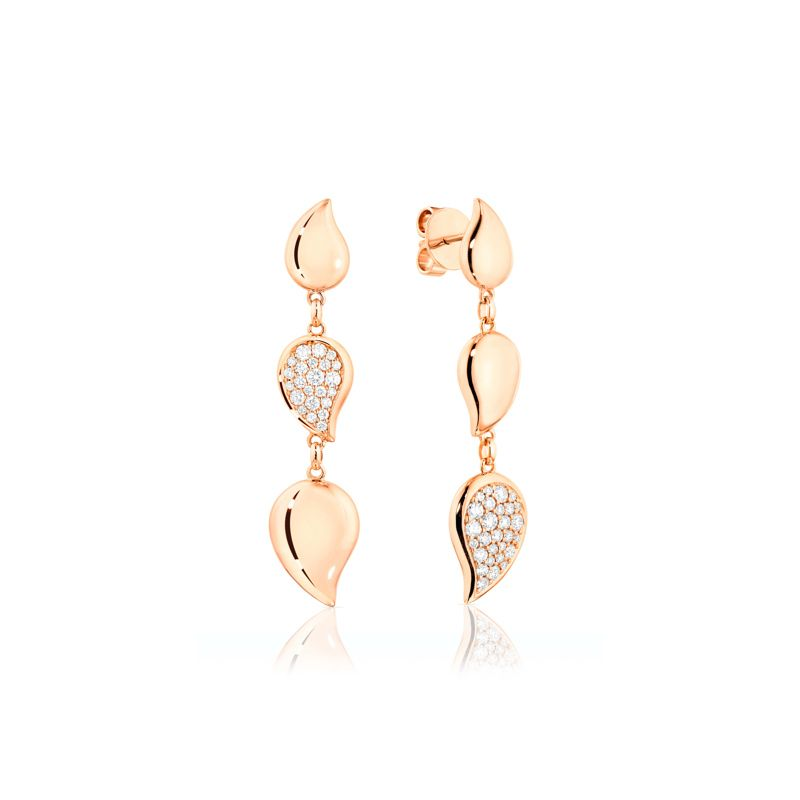 E-Sig-Wave-3drop-RG | Tamara Comolli Signature Wave earrings